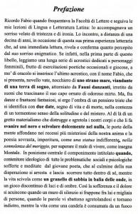 Recensione del libro di poesie -Pensieri di Fabio Chillemi